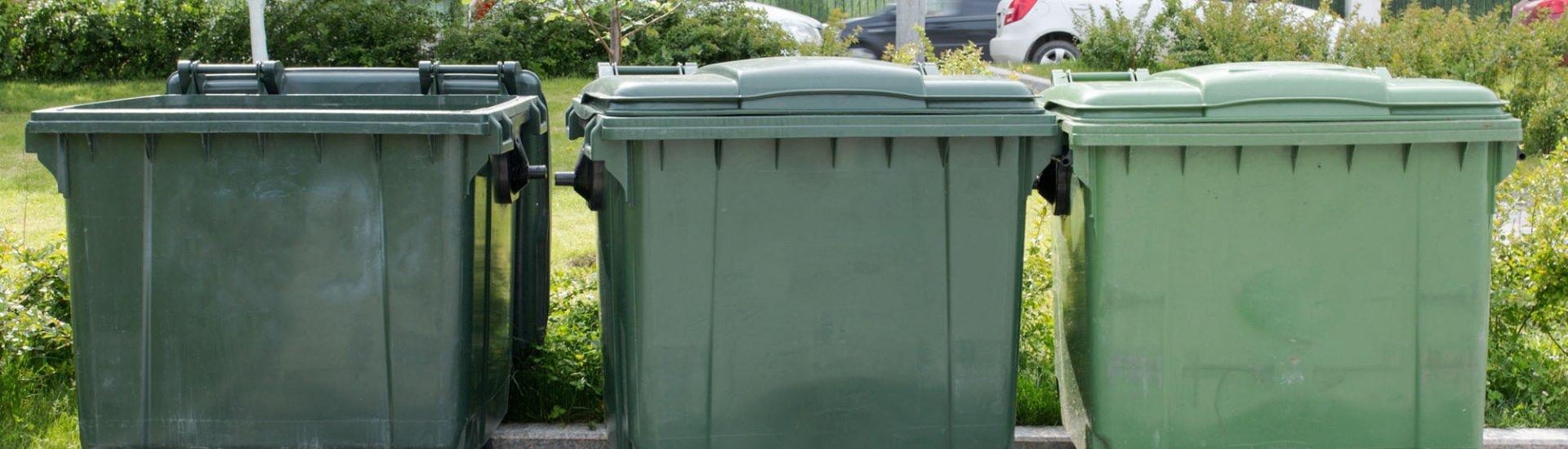 Müllcontainer: Top 3 Modelle, worauf achten? Stellplatz finden